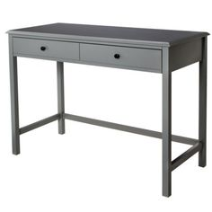 Threshold™ Windham Desk - this is a nice style. This would be strictly for a lap top and a lamp, but with drawers for your keys, cell phone, etc. I like the dual purpose of this for entry table but also for a desk. Lots of colors too! $169.