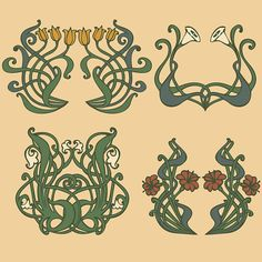 vintage style labels on different topics for decoration and designArt...