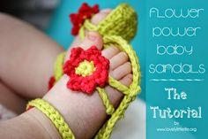 Bees and Appletrees  (BLOG): babysandaaltjes haakpatroon - babysandals crochetp...
