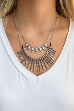 Warrior Princess Necklace Set - Silver