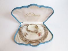 L' Amour Jewelry Set Vintage 1950's Demi Parure Rhinestone Fifth Avenue Accessory In Box  $65 - SALE PRICE $45  http://www.rubylane.com/item/676693-JL20/L-Amour-Jewelry-Set-Vintage