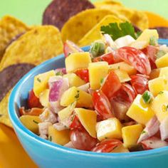 Creamy Mango Salsa Recipe Appetizers, Condiments and Sauces with hellmann' or best food light mayonnais, lime juice, ground cumin, grape tomatoes, mango, purple onion, chipotle peppers, chopped cilantro fresh