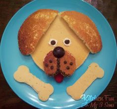 Kitchen Fun With My 3 Sons: Puppy Pancakes..woof woof!