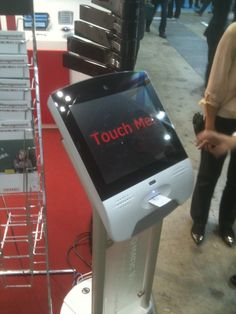Touchscreen queue management kiosk from Zytronic. Sentios have worked with clients on their Customer Experience projects and included touch screen kiosks and tablets.