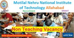 MNNIT Recruitment 2017 for 92 Non-Teaching Contractual Posts