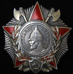 Original RARE Soviet Russian Order Nevsky Nevskiy Medal ww2 badge USSR Russia