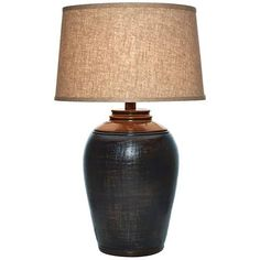 Kearny Indigo Blue Urn Table Lamp - #5F878 | Lamps Plus