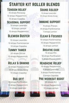 Young Living Premium Starter Kit Roller Bottle Blends. DIY. Lavender. Lemon. Peppermint. Frankincense. Copaiba. Panaway. Thieves. Purification. R.C. DiGize. Stress Away. 11 Essential Oils, 1 Diffuser, 2 Packs NingXia Red, Sample Oils, Sample Bottles, and More.