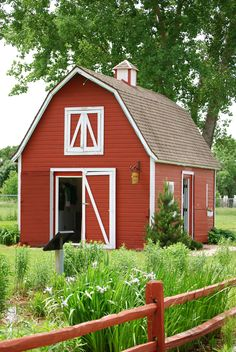 country red barn shed garden