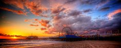 Just before dusk and just after dawn were always the most lovely. (Santa Monica Pier)