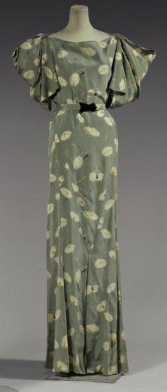 Madeleine VIONNET Robe de Garden Party, 1934, modèle n°4750. Crêpe d