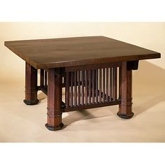 This could be a good coffee table for the living room, but maybe have a few poles missing so it looks warn down.