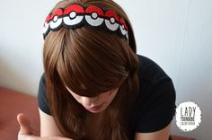 Handmade, Pokeball (Pokemon) Felt Headband  Product Specifications ● The product is made with craft felt, glued with extra strong fabric glue and