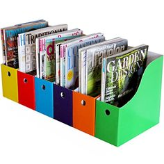Evelots 6 Heavy Duty Magazine/File Holders W/ Adhesive Labels, Multi-Color Desktop Organization, Tool Organization, Organizing Mail, Classroom Organization, Classroom Decor, Teacher Storage, Organizing Tools, Organisation Ideas, Classroom Setting
