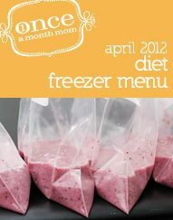 Freezer diet cooking menu - Weight Watchers Points+ included & nutritional value - grocery lists, recipe cards, instructions and labels.