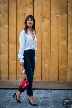 Paris SS 2017 Street Style: Jeanne Damas | STYLE DU MONDE | Bloglovin'