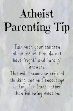 Atheist parenting by Karen