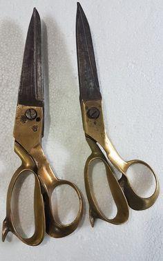 Vtg.Tailor Scissor Shear double Cross blade Fabric cutting tool variety Q2 C1940