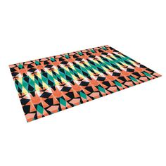 "Akwaflorell ""Triangle Visions"" Indoor / Outdoor Floor Mat   KESS InHouse"
