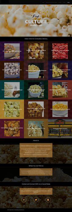Specialty popcorn website Service Awards, Popcorn, Wordpress, Web Design, Social Media, Website, Design Web, Social Networks, Website Designs