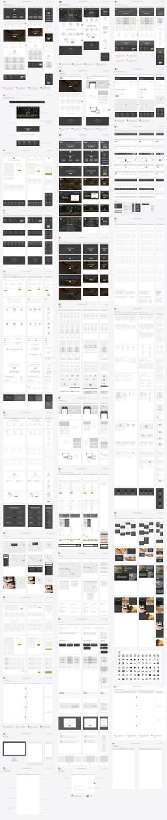 Website ux flowchart cards by codemotion design kits on for Html5 wireframe template