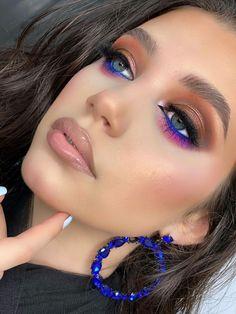 Glam Makeup, Fancy Makeup, Creative Eye Makeup, Colorful Eye Makeup, Eye Makeup Art, Gorgeous Makeup, Skin Makeup, Bold Makeup Looks, Eye Makeup Designs