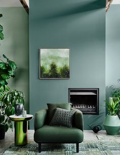 The 2020 Dulux Colour Forecast Is Revealed! Dulux reveal their 2020 Colour Forecast – dictating colour trends for the year to come! Living Room Red, Living Room Interior, Living Room Decor, Green Living Room Ideas, Green Home Decor, Bedroom Decor, Design Lounge, Home Decor Trends, Decor Ideas