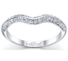 Vatche Engagement Rings, Swan Matching Band Knife Edge Pave # 223
