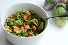 Caramelized Brussels Sprouts with Strawberries