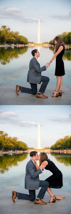 Beautiful proposal at the Washington Monument with the sweetest love story!