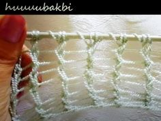 basit etol örnek - YouTube Crochet Beret, Tunisian Crochet, Knit Patterns, Stitch Patterns, Lace Knitting Stitches, Crochet Beaded Necklace, Stitch Witchery, Knitting Videos, Cross Stitch