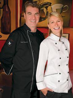 La Bistro South Florida Photo Shoot Men's Chef Coat #77315 http://www.chefuniforms.com/chef-coats/mens-chef-coats/imperial-cotton-chef-coat.asp?frmcolor=black