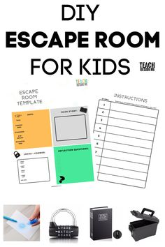 room diy for kids Tips to create your own themed DIY escape room for kids ~ can be used for teaching or for parties! Escape Room Diy, Escape Room For Kids, Escape Room Puzzles, Kids Room, Escape Room Themes, Puzzles For Kids, Activities For Kids, Spy Games For Kids, Fun Games