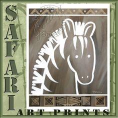 Art for Children  Zebra Zoo Safari Animals by PChristensenGallery, $10.00