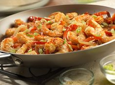 Asian Shrimp Stir-Fry recipe | No need to order takeout, this sizzling skillet stir-fry is on the table in less than 20 minutes. Fresh vegetables, shrimp and a perfectly seasoned sauce combine for an unforgettable meal the whole family will enjoy.  - Foodista.com #asian #skillet #seafood