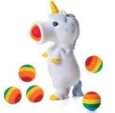 Hog Wild Pooping Unicorn Popper Rainbow Foam 6 Ball Shooter Pride Love Gag Gift