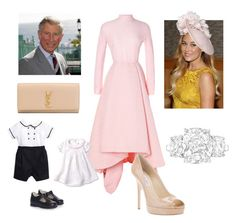 """""""Attending Wedding of Good Family Friend with Father - in -law and Children"""" by royal-fashion ❤ liked on Polyvore featuring Emilia Wickstead, Lauren Conrad, Jimmy Choo, La Stupenderia and Yves Saint Laurent"""