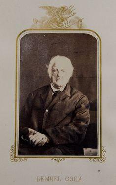 Lemuel Cook: Revolutionary war veteran . Taken in 1864.