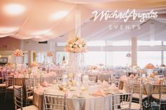 Brides, imagine this romantic fabric treatment for your big day! MichaelAngelos Events can help.