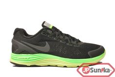 Nike Lunarglide+ 4 Shield  Black Electric Green  (537475-003)