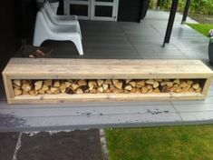 bench seating/wood storage