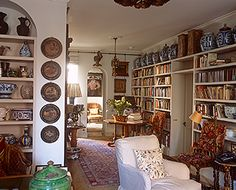 Robert Kime's very English library at Museum Street shop in Bloomsbury, London, 2009