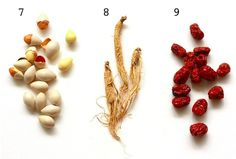 Chinese medicinal herbs help alleviate pain and boost health like gingko, ginseng, red dates.