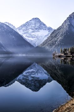 Plansee - Plansee, wonderful lake in Tyrol, Austria