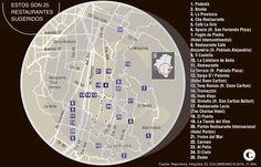Para vivir una experiencia gastronómica en Medellín Map, Converse, Stone Fire Pits, Live, Restaurants, Cities, Food, Location Map, Peta