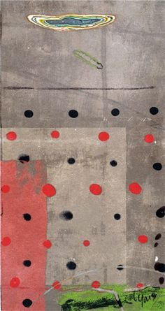 'Redblackdots' by artist Mitch Lyons.  clay monoprint. via Bradford Woodworking on Flickr