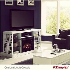 Dimplex's Charlotte Media Console, Elegance crafted with Functionality. Discover your Dimplex Media Console today at Watson's. Fireplace Media Console, Media Electric Fireplace, Electric Fireplaces, Media Consoles, Hearth, Charlotte, Kitchen Appliances, Cozy, Indoor