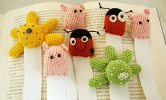 troppo carini!, knitted book marks