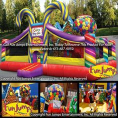 Candy Playland Slide ComboMinnesota Inflatable Party Rental Minneapolis MN Rentals Event