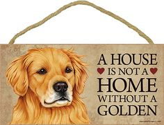 A House Is Not A Home DACHSHUND Doxie Red Dog 5x10 Wood SIGN Plaque USA Made